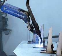 primer natančnega robotskega varjenja